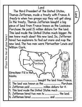 Lewis, Clark, and Sacagawea Tab Booklet