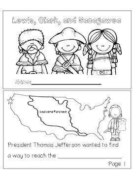 Lewis, Clark and Sacajawea: Informational Fill in the Blank Book