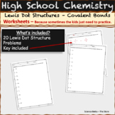 Lewis Dot Structure | Intro to chemistry worksheet