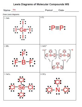 Lewis Dot Structure Worksheet by Chem Queen | Teachers Pay ...