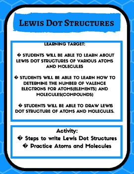 Lewis Dot Structures/ Electron Dot Structures