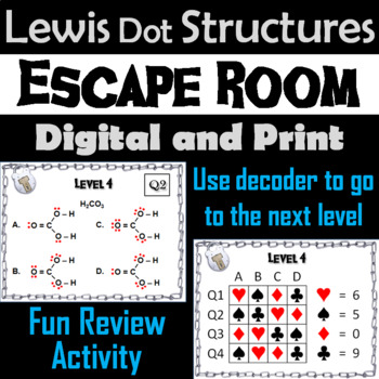 Lewis Dot Structures Activity: Chemistry Escape Room - Science