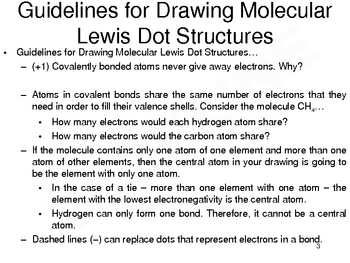 Lewis Dot Structures for Molecules