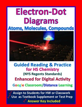 Lewis Electron Dot Diagrams -  Guided Study Notes & Practice for HS Chemistry