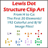 Lewis Structure Clip Art: 20 Elements, Dots, and Atoms!