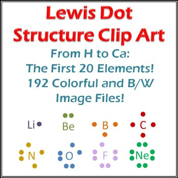 Lewis Structure Clip Art: 20 Elements, Dots, and Atoms!