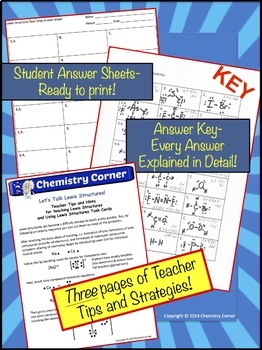 Lewis Dot Structure Task Cards