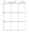 Lewis Structure Worksheet- multiple bonds