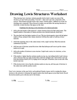 Lewis Structures Instructional Guide & Sketching Activity