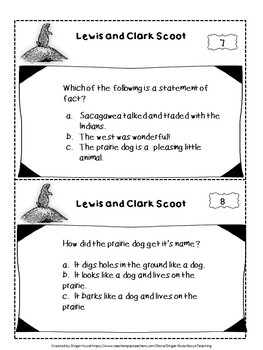 """Lewis and Clark, A Prairie Dog for the President """"Scoot"""" Game"""
