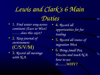 Lewis and Clark - A Study Of Their Voyage