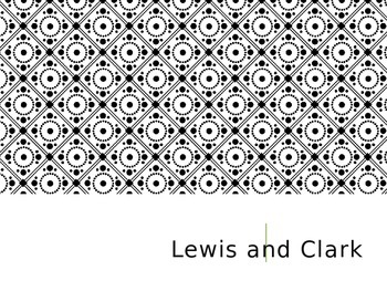 Lewis and Clark Background Powerpoint