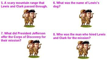 Lewis and Clark Bingo