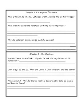 Lewis and Clark Book Packet