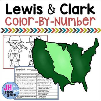 Lewis and Clark - Color-By-Number