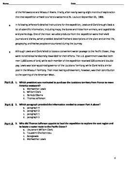 Lewis and Clark Common Core Reading Assessment