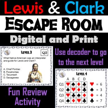 Lewis and Clark: Escape Room - Social Studies