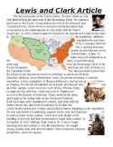 Lewis and Clark Expedition Article Packet with Questions