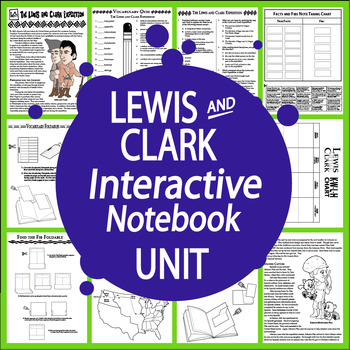 Lewis and Clark Expedition Interactive Notebook Unit–Westward Expansion