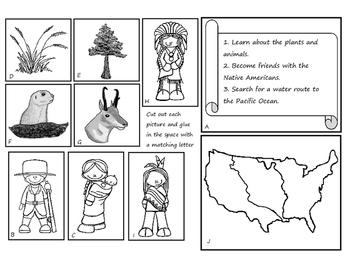 Lewis and Clark Expedition Journal- Cut and Paste Activity Book