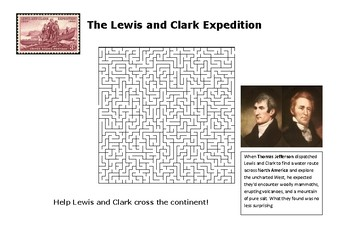Lewis and Clark Expedition Maze Puzzle