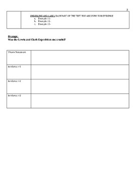Lewis and Clark Expedition Primary Source Activity