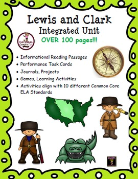 Lewis and Clark Integrated Unit:  Over 100 Pages of Projec