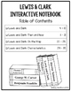 Lewis and Clark Interactive Notebook (1st Grade)