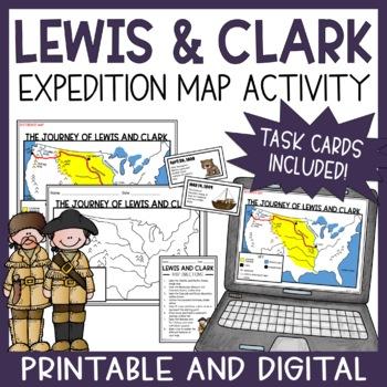 Lewis And Clark Map Teaching Resources Teachers Pay Teachers