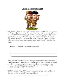 Lewis and Clark Mini-Project