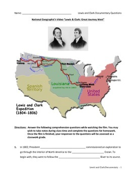 Lewis and Clark - Nat. Geo. Documentary Questions