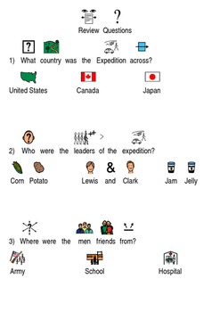 Lewis and Clark - Picture Supported Text Review History Facts Questions