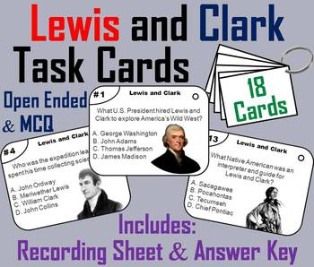 Lewis and Clark Task Cards