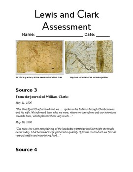 Lewis and Clark Test-Prep Common Core Assessment with Instructional Task