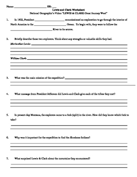graphic relating to Lewis Clark Printable Activities referred to as Lewis And Clark Ideal Excursion West Worksheets Training