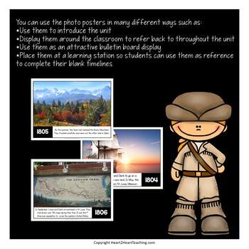 Lewis and Clark Timeline Kit with Posters & Activities