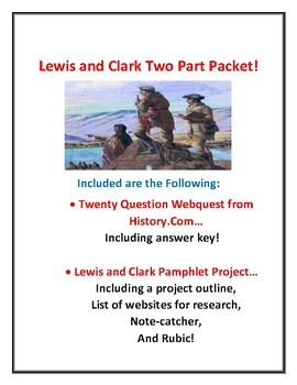 Lewis and Clark Two Part Packet!