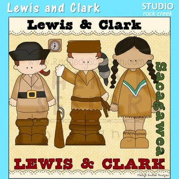 Lewis and Clark US History Color Clip Art  C. Seslar