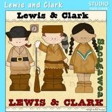 Lewis and Clark US History Color Clip Art  C. Seslar