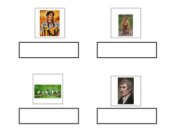 Lewis and Clark Vocabulary Match