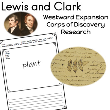 Lewis and Clark, Westward Expansion, Corps of Discovery Worksheets