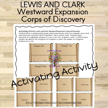 Lewis and Clark, Westward Expansion, Corps of Discovery Activating Activity
