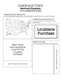 Lewis and Clark Westward Expansion Lapbooks - The Louisiana Purchase Inserts