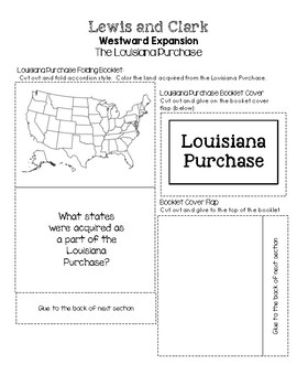 Lewis and Clark Westward Expansion Lapbooks - The Louisiana Purchase Inserts