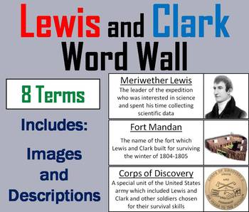 Lewis and Clark Word Wall Cards
