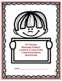 Lewis and Clark and Me Comprehension Questions - 4th Grade Reading Street