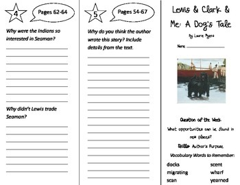 Lewis and Clark and Me Trifold - Reading Street 4th Grade Unit 1 Week 2