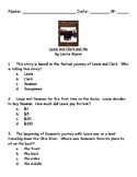 Lewis and Clark and Me by Laurie Myers book test and answer key