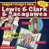 Lewis and Clark and Sacagawea BIOGRAPHY BUNDLE - 9 Projects - 30% OFF
