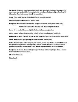 Lewis and Clark script